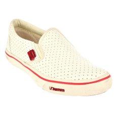Rhumell Coral Slip On Sepatu Kasual - Putih/Merah