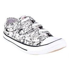 Rhumell Sepatu Sneakers Artis Velcro Low - Putih/Hitam