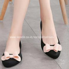 Harga Ribbon Jelly Shoes Warna Hitam Oem