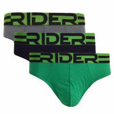 Jual Rider Sport R762B Mini Brief 3Pcs Hijau Celana Dalam Pria Branded
