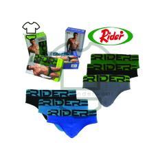 Spesifikasi Rider Sport R762B Mini Brief Original Brand Rider Sport Celana Dalam Pria Biru 3 Buah Multicolor Bagus