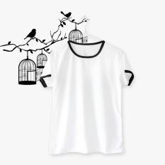 ELLIPSES.INC Ringer Tee / T-Shirt / Kaos Wanita Polos - Putih