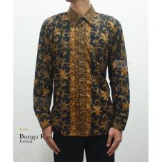 Risna Batik Bunga Kantil Kemeja Pria Lengan Panjang Exclusive M L XL