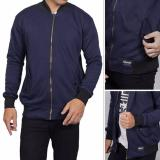 Model Rjr Jaket Bomber Fleece Navy Terbaru
