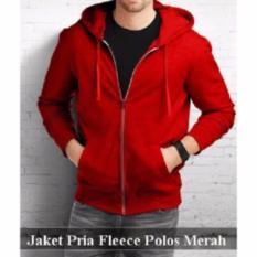 Rjr Sweater Hoodie polos merah cabai