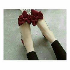 RK SHOES FLAT MIKA PITA MERAH