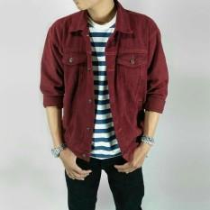 Promo Rl Jaket Jeans Pria Maroon Murah