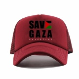 Rluck8888 Topi Trucker Save Gaza Palestine Marun Rluck8888 Diskon 40