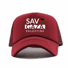 Spesifikasi Rluck8888 Topi Trucker Save Gaza Palestine P01 Marun Lengkap Dengan Harga