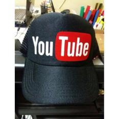 Review Rluck8888 Topi Trucker Youtube Hitam Terbaru