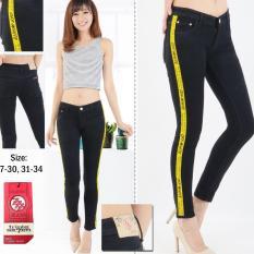 Harga Rnf Celana Jeans Wanita Hitam List Kuning Sofjeans Celana Jeans Cewek Original