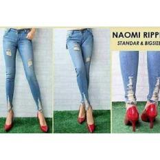 Spesifikasi Rnf Celana Jeans Street Naomi Ripped Biru Merk Celana Jeans Cewek