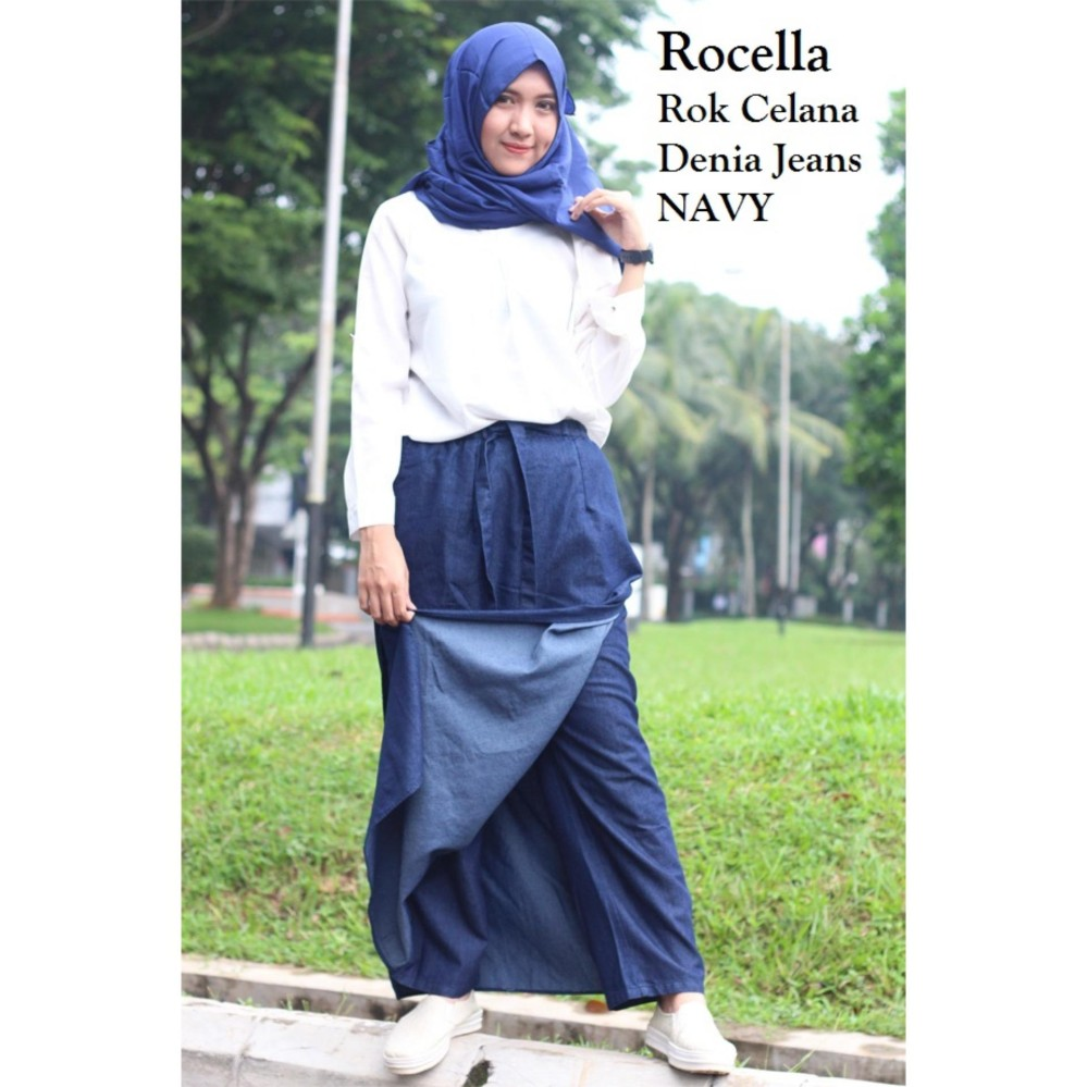 Jo Nic A Line Maxi Skirt Rok Hijab Fit To Xl Navy Daftar Harga Wrapped Long Btnl70254 Pleated Flare Big Size