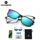 Review Terbaik Rockbros Bicycle Dual Use Sunglasses Uv400 Double Lens Polarized Lens Cycling Bike Bicycle Eyewear(Black) Intl