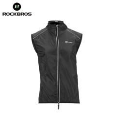 ROCKBROS Bersepeda Sepeda Sepeda Jaket Mantel Bersepeda Sepeda Jsey Pakaian Windproof Reflektif Cepat Kering Coat Bike Equipment (Rompi Hitam) -Intl