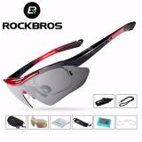 Rockbros Polarized Sunglass Bersepeda Sunglasses Outdoor Olahraga Bicycle Bike Tr90 Goggles Eyewear 5 Lensa Aksesoris Bersepeda Intl Rockbros Diskon 50