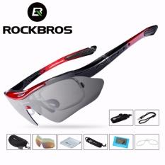 Review Toko Rockbros Polarized Sunglass Bersepeda Sunglasses Outdoor Olahraga Bicycle Bike Tr90 Goggles Eyewear 5 Lensa Aksesoris Bersepeda Intl Online