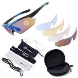 Beli Rockbros Terpolarisasi Bersepeda Olahraga Sunglasses Dengan 5 Pasang Lensa Biru Intl Seken