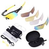 Spesifikasi Rockbros Terpolarisasi Bersepeda Kacamata Hitam Olahraga Dengan 5 Pasang Lensa Kuning International Paling Bagus