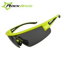 Cuci Gudang Rockbros Uv400 Cycling Glasses Polarized Sunglasses Outdoor Fishing Driving Bicycle Bike Sun Glasses Occhiali Ciclismo Fluorescent Green