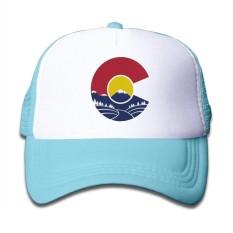 Rocky Mountain Colorado C Balita Tabir Surya Trucker Caps Gaya Bagus untuk Anak-anak-Intl