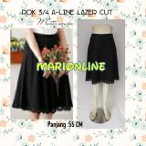 Jual Rok A Line Hitam Lazer Cut Flare Skirt Alicia Murah
