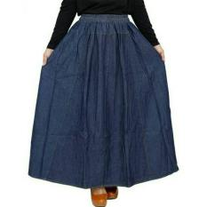 Rok Jeans Jumbo Warna Dark Blue Azka Collection Diskon 40
