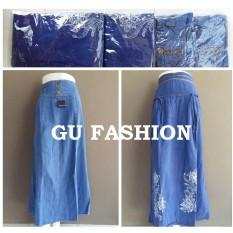 Toko Rok Jeans Navy Bawahan Denim Panjang Cewek Supplier Grosir Pakaian Wanita Perempuan Murah Cantik Di Jawa Tengah