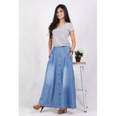 Beli Rok Jeans Panjang Biru Aqua 5007 Yang Bagus