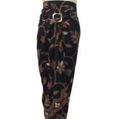 Rok lilit batik flower bawahan kebaya [black]