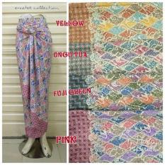 Rok Lilit Serut Batik R041 Semi Sutra  Wrap Skirt  Kain Lilit Bawahan Kebaya Dan Baju Batik Wanita