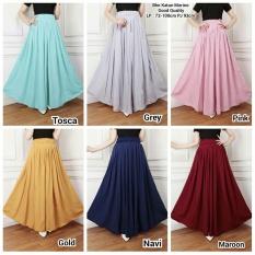 Rok maxi payung panjang wanita jumbo long skirt Gaby - grey