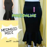 Harga Rok Midi Mermaid Duyung Peplum Online Indonesia