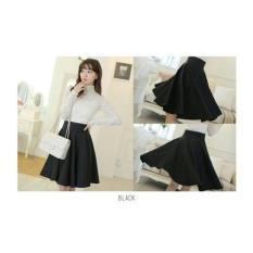 Review Pada Rok Payung Hitam Rok Pendek Flare Skirt