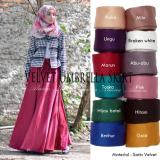 Beli Rok Payung Panjang Pesta Muslimah Velvet Umbrella Skirt Murah Indonesia