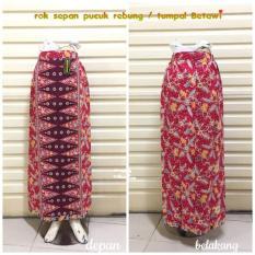 Rok Sepan Tumpal ST17 Motif Batik Pucuk Rebung / Tumpal Betawi / Bawahan Kebaya Kartini Wanita