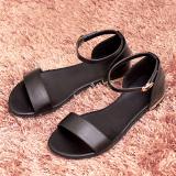 Beli Sandal Summer Roma Musim Panas Sepatu Wanita Kulit Sederhana Hitam Oem Online