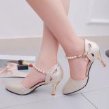 Model Roma Perempuan Horizontal Sabuk Sepatu Wanita Baotou Sandal Summer Emas Sepatu Wanita Sendal Wanita Terbaru