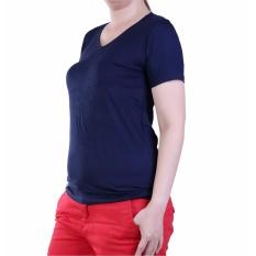 Ronaco baju Kaos Polos V neck 291  - Biru
