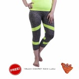Spesifikasi Ronaco Celana Senam Zumba Pants Celana Aerobik Celana Yoga Import Abu Abu Strip Hijau Dompet 1 Merk Ronaco