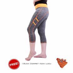 Toko Ronaco Celana Senam Zumba Pants Celana Aerobik Celana Yoga Import Abu Abu Strip Orange Dompet 4 Terdekat