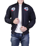 Beli Ronaco Jaket Bomber Hawk Navy Abu Muda Murah