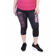 Jual Cepat Ronaco Jumbo Celana Senam Zumba Pants Hitam Pink Xl