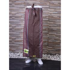 Ronaco Sarung Celana Sarung Tenun Al Hidayah Coklat Strip Merah Ronaco Diskon 50