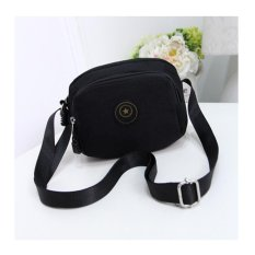 Toko Rorychen Casual Messenger Shoulder Canvas Clamp Traverse Mini Pack Oxford Cloth Handbag Nylon(Horizontal Version Of Black) Intl Terdekat