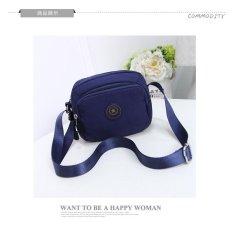 Rorychen Casual Messenger Shoulder Canvas Clamp Traverse Mini Pack Oxford Cloth Handbag Nylon(Horizontal Version Of Deep Blue) Intl Diskon Tiongkok
