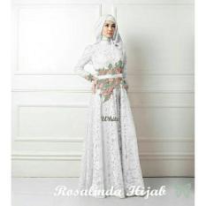 Rosalinda White Busana Muslim Pesta Wanita Terbaru Gamis Terbaru