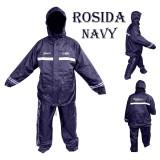 Jual Rosida Jas Hujan Stelan Jaket Celana 2 Lapis New Desain Sporty Tipe R882 Suit Navy Dongker Rosida Ori