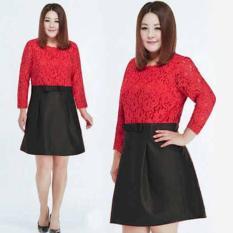 [Rosse Biggy FT] Dress Wanita Saten Merah