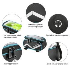 ROSWHEEL 6.2 Inch Sentuh Layar Sepeda Tas Bingkai Depan Keranjang Bersepeda Terbaik Tabung Tas Seluler Telepon Penahan Tas MTB jalan Sepeda Perbaikan Alat-Internasional